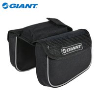 bicycle basket accessories - GIANT Original Bicycle Front Tube Bag Outdoor Sports Riding Packet MTB Mountain Road Bike Basket Bicycle Accessories Black Blue