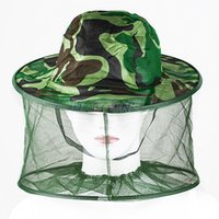 Wholesale Mosquito Bug Insect Bee Resistance Net Mesh Head Face Protector Hat Cap Outdoor Cap JSL