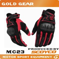 Wholesale 2016 New Scoyco MC23 Motorcycle Racing Accessories Bike Bicycle Full Finger Protective Gear Gloves Free Drop Shipping