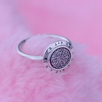 sterling silver rings - Good Quality luxury cubic zirconia Authentic Sterling Silver Pandora Named Rings With S925 ALE Size Stamped