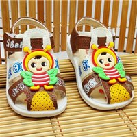 baby shoes names - A noise cartoon caterpillar baby sandals in the summer of the new soft bottom toddler named shoes