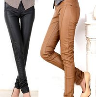pu leather for leather pants - NEW spring pu leather pants womens Autumn fashion topshOP pencil trousers for woman Personalized Sexy for Women black