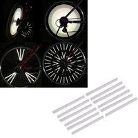 Wholesale Silver Bike Cycling Bicycle Wheel Reflective Spoke Reflector Warning Strips Clip mm