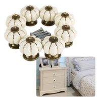Wholesale 1pc Retro Ceramic Handle Pull Knobs Cabinet Door Cupboard Drawer Locker Vintage D0125 order lt no tracking