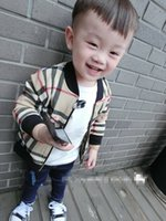 Wholesale Europe Autumn Children Boys Coat Kids Clothing Long Sleeve Classical Pladi Zipper Jackets Childs Winter Boy Thicken Outwear Tops H1891