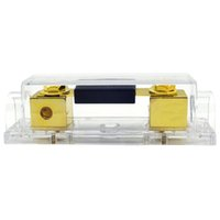 Wholesale Gold Plated Audio Copper Zinc Conductor Inline ANL Fuse Holder Gauge I O For Amp With A Fuse Pre Set