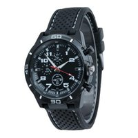 Wholesale S5Q Men Casual Stainless Steel Case Rubber Band Analog Quartz Sports Wrist Watch AAAEYS