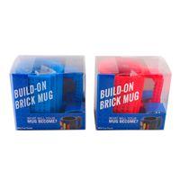 white mugs - DIY Lego Mug Creative Build on Brick Coffee Mugs Lego PixelBlocks Mega Bloks KRE O or K NEX Bricks compatible bricks cup