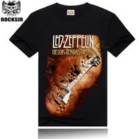 band tshirts - Summer style OF Rock Design Ledzeppelin Band Printed Men s Men Rock d T Shirt Rock Band T shirt Short Sleeve Tshirts