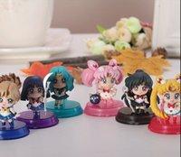 Wholesale Cute Mini Q Version Anime Cartoon Sailor Moon Jupiter Mars Venus Mercury Action Figure Model Toy doll