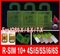 Wholesale R SIM R SIM plus RSIM Rsim10 Unlock Card for iphone s S S ios9 ios9 x G G CDMA SPRINT SB AU direct use no Rpatch