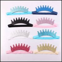 baby head gear - Prettybaby Kids headbands with soft tiaras and elastic band head gear baby sequins party hair accessories colors hair band Pt0141