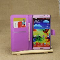 Cheap 2015 New Luxury Litchi grain wallet Leather case For Samsung Galaxy Note 3 N9000 free shipping