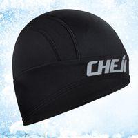 bicycle helmet liners - Cheji Fleece Thermal Winter Outdoor Sports caps High Quality Newest Bike Bicycle Cycling Skiing Hiking Helmet Headband Liner Warmer Cap Hats