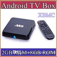 Wholesale 20pcstr Original M8 M8N XBMC13 Kodi14 Amlogic S802 Android TV Box GB GB Quad Core XBMC TV Box Android K G G Dual WiFi TV