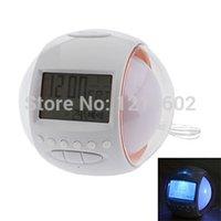 alarm clock radio nature sounds - New Nature Sound FM Radio Digital Alarm Clock With Color LED Lighting Calendar by