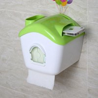 bathroom tissue holder stand - Waterproof Space Phone Toilet Paper Holder Roll Tissue Case Stand Washroom Bathroom Accessories Green New