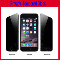 Wholesale Privacy Tempered Glass For iPhone Note Screen Protector LCD Anti Spy Film Screen Guard Cover Shield for Samsung S6 S5 Note3