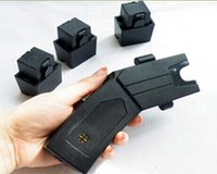 taser - Range Distance of m LED security device taser stun self defense device with alarm function