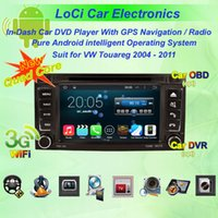 Wholesale Car dvd Multimedia radio android player for VW volkswagen touareg autoradio CD gps navigation TV Pure android Quad Core