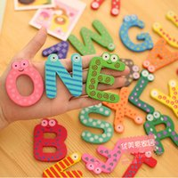 magnetic alphabet - wooden educational Letter Cute Learning Toys English Letters Magnetic For Education Magnetic Connec toys For Kids