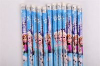 animated eraser - Pens Pencils Frozen Drawing Pens Supplies Frozen animated cartoon pencil with eraser students Stationery Children Supplies