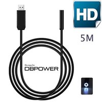 Wholesale DBPOWER Million Pixels Cmos m MM Lens USB Endoscope Inspection Camera Waterproof Hd led Borescope Tube Visual Camera