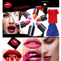 6Pcs que cambia de color duotono Magia Degradados Rainbow lápiz labial Cosméticos Rouge Bálsamo Labial Doble color del lápiz labial W1203