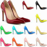 red patent leather shoes - Sexy Women Pumps Patent Leather High Heels Weeding Shoes Party Shoes Pointed Toe Pumps Red Buttom Pumps