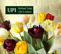 silk tulips - drop shipping decorative artificial flowers silk tulip for wedding decoration tulips flower bridal gift