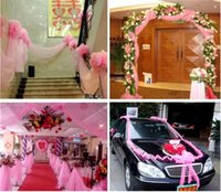 best cake decorating - best selling Wedding party Decorations Gauze curtain Backgrounds Wedding car Decorations for wedding Decorate scene props new style
