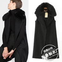 angora jacket - Pick up DT2015 pick up new luxury Couture Angora Wool Vest Jacket collar long