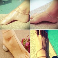 Cheap 1PC Hot Celebrity Simple Plated Toe Ankle Bracelet Chain Link Foot Women Jewelry Drop Free Beach Barefoot Toe Foot anklets