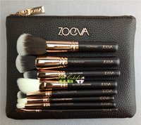 Wholesale 40pcs New Zoeva Rose Golden Makeup Brush Kits genuine quality face and eye cosmetics brushes made of synthetic fiber hair free DHL