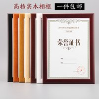 award frames - Classical Wooden Wall Mounted and Countertop Wooden Certificate Award Frame Hot Selling Wood Diploma Framing WP006