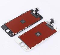 al por mayor iphone reemplazo táctil de cristal-Reemplazo de cristal de la asamblea del LCD del digitizador de la pantalla táctil para el teléfono 5 5C 5S envío libre blanco y negro
