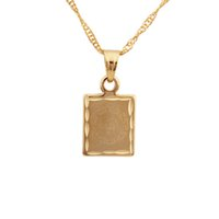 islamic necklace - Allah Pendant K Real Gold Plated Jewelry Men Islamic Necklaces Pendants