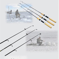 Wholesale New M Telescope Carbon Ice Fishing Rod Mini Pole Ultra light Winter Fishing Tackle Tool H11738