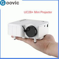 Wholesale UC28 Mini Projector With HDMI Portable Mini HD LED Projector Cinema Projector Theater PC Laptop VGA USB SD AV input x