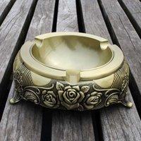 antique bronze ashtray - Large Rose Ashtray Vintage Ashtray Home Ornament Bronze amp Antique Pewter colors
