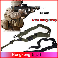 Wholesale High quality Three Point Rifle Sling Adjustable Bungee Tactical Airsoft Gun Strap Paintball Gun Sling for hunting Army Green black