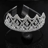 Cheap Modest Crystal Tiara Crown Veil Headband Wedding Prom Pageant Headpiece Crowns order<$18 no tracking