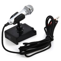 portable laptop computer stand - 3 mm Jack Portable Mini Metal Condenser Microphone with Stand Studio Wired Microfone for Mobile Phone PC Laptop Karaoke with patch cord