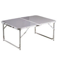 Wholesale 100X70X44cm Light Weight Aluminum COMPACT FOLDING TABLE Outdoor Camping Picnic Table