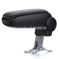 Wholesale Promootion High Quality Black Leather Armrest Arm Rest Center Console Storage Box For Audi A6
