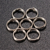 carbon steel ring - 50pcs pack Stainless Steel Split Rings For Fishing Lures Tackle Rigs mm