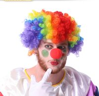 ball circus - 50 Red Sponge Foam Ball Clip Circus Clown Nose Comic Halloween Costume Party Magic Dress