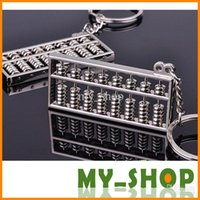 Wholesale Keychain Chinese Abacus Calculator Gifts Kids key chain ábaco abaküs abaco Zinc Alloy keychains Key Holder Ring KC2073