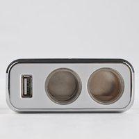 Wholesale GPS Degree Active V Car Cigarette Lighter to Lighter Socket Splitter with USB Car Charger Car USB Socket Y57 DA1147 M5