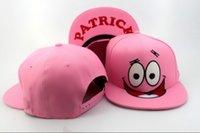 men designer caps - Patrick Nickelodeon Cartoon Snapback Cap pink classic men women s designer snapback hats Freeshipping